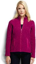 Classic Women's Petite 200 Everyday Sweater Fleece Jacket-Magenta Rose Heather
