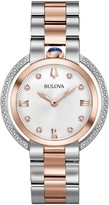Bulova Women's Rubaiyat Two Tone Diamond AccentWatch