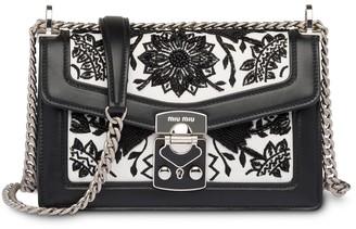 Miu Miu Embroidered Shoulder Bag