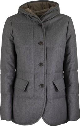 Brunello Cucinelli Wool Down Jacket Grey