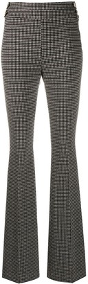 Liu Jo Flared Houndstooth Trousers
