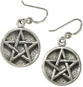 Moonlight Mysteries Sterling Silve Pentacle Earrings; 1/2 Inch Diameter