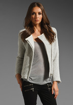 IRO Kiana Sparkle and Leather Contrast Jacket