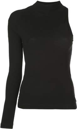Rosetta Getty one-sleeve knitted top