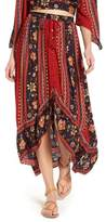 Band of Gypsies High/Low Button Front Skirt