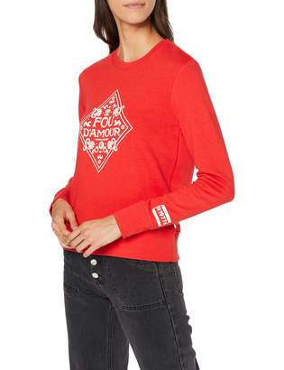 Scotch & Soda Maison Women's Crewneck Sweat with Artworks Sweatshirt
