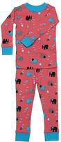 New Jammies Coral Elephant Kites Organic Pajama Set - Infant & Kids
