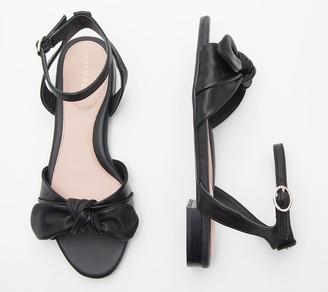 Taryn Rose Bow Ankle Strap Sandals - Vivan