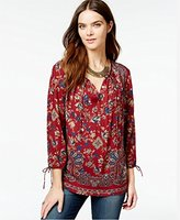 Lucky Brand Women's Floral Paisley Top