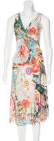 Blumarine Abstract Print Embellished Skirt Set