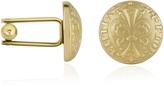 Forzieri Fleur-de-Lis Gold-Plated Cufflinks