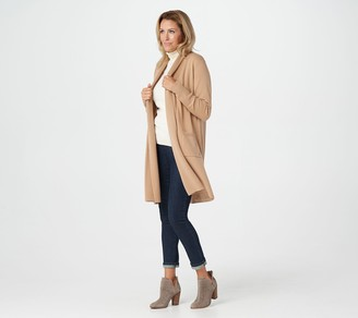 Naadam Soft By Soft by 100% Cashmere Shawl Collar Duster Cardigan