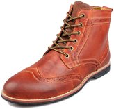 PhiFA Men's Top Grain Leather Brogues Ankle Dress Boots Lace-ups Shoes US Size 12