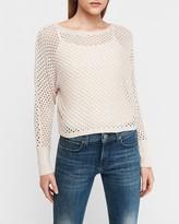 Express Metallic Open Stitch Dolman Sleeve Sweater