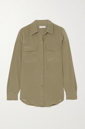 Equipment Washed-silk Shirt - Green