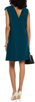Oscar de la Renta Tie-neck Draped Wool-blend Crepe Mini Dress