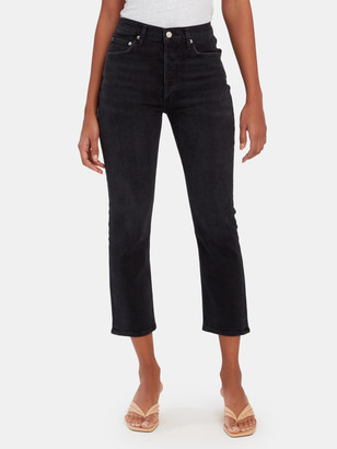 A Gold E Riley High Rise Straight Crop Jeans
