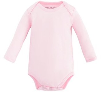 Under the Nile Baby Organic Cotton Long Sleeve Lap Shoulder Bodysuit Onesie