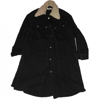Maison Margiela Navy Cotton Coat for Women