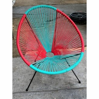 Bronx Bovina Patio Chair Ivy Color: Blue/Red