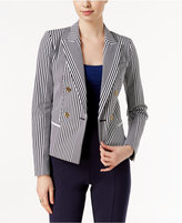 MICHAEL Michael Kors Striped Two-Button Blazer
