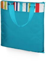 Picnic Time 'Vista XL' Outdoor Blanket Tote - Aqua Blue with Fun Stripes