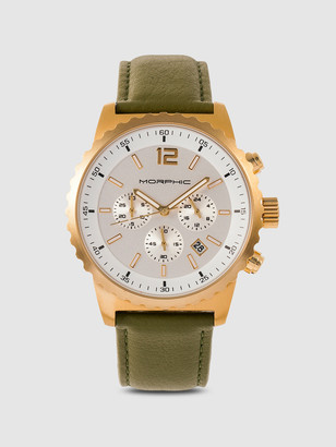 Morphic M67 Series 44mm Padded Leather Watch