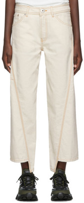 Lanvin Off-White Asymmetric Jeans