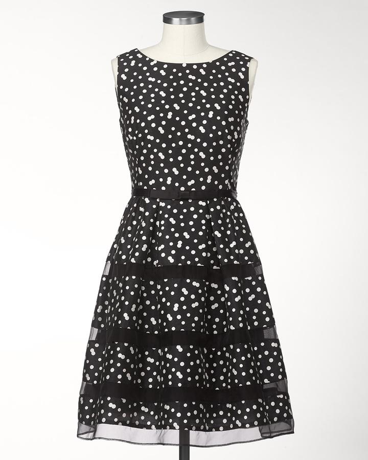Coldwater Creek Polka dot tiers dress