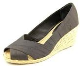Lauren Ralph Lauren Cecilia Women US 5 Black Wedge Heel UK 3.5 EU 35