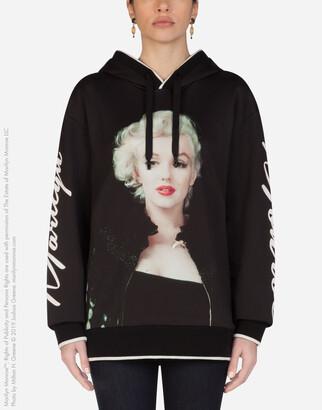 Dolce & Gabbana Jersey Hoodie With Marilyn Monroe Print