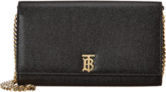 Burberry Monogram Motif Leather Wallet On Chain