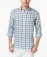 Tommy Bahama Men's Big and Tall Thira Plaid Linen Shirt