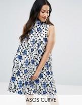 Asos Spot Jacquard A Line Dress