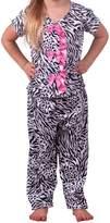 Laura Dare Big Girls Tropical Beauty Man Tailor Pajama