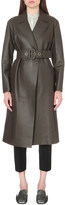 Jil Sander Belted leather trench coat