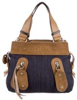 Chloé Denim & Leather Shoulder Bag