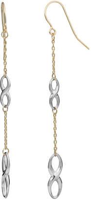 10k Italian Gold 10K Italian Gold Two-Tone Double Infinity Earrings