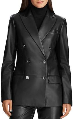 Ralph Lauren Double-Breasted Leather Jacket