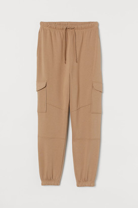 H&M Joggers with Leg Pockets - Beige