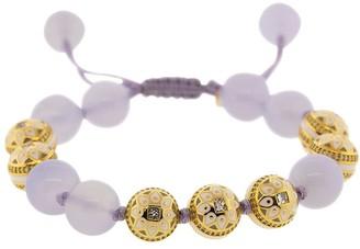 20kt Yellow Gold, Diamond And Moonstone Mandala Beads