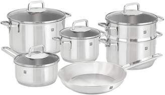 Zwilling Quadro 10-Piece 18/10 Stainless Steel Cookware Set - Induction Ready