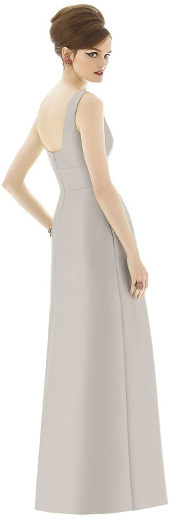 Alfred Sung D655 Bridesmaid Dress in Oyster