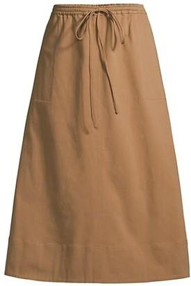 Toccin Drawstring Midi Skirt