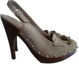 Gucci Beige Leather Mules Clogs