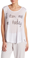 Lauren Moshi Scoop Neck Graphic Tank