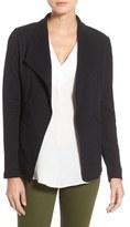 Caslon Cotton Knit Open Front Blazer (Regular & Petite)
