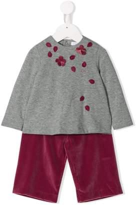 Il Gufo two-piece velvet trousers set