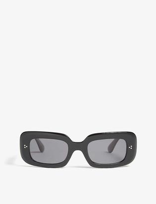 Oliver Peoples Saurine rectangle-frame polarised sunglasses