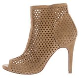 Pedro Garcia Perforated Peep-Toe Ankle Boots